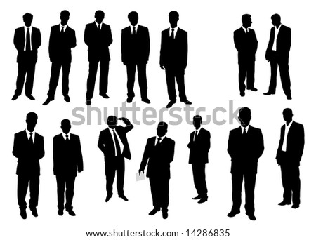 Collection of businessman. Vector illustration - stock vector