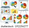 Collection Of Charts Icons - stock vector