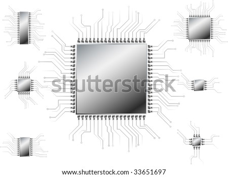 Collection of chips. Vector. - stock vector