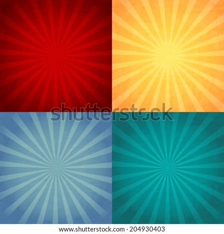 Collection of color vintage background. Vector - stock vector