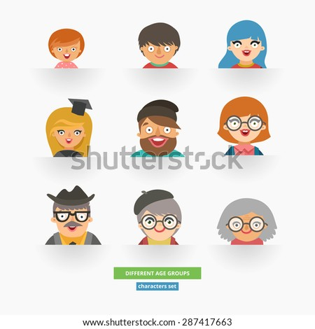 Age Group Icon Stock Photos, Images, & Pictures