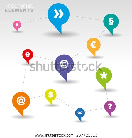 Collection of colorful speech bubbles and dialog balloons - Vector Illustration  - stock vector