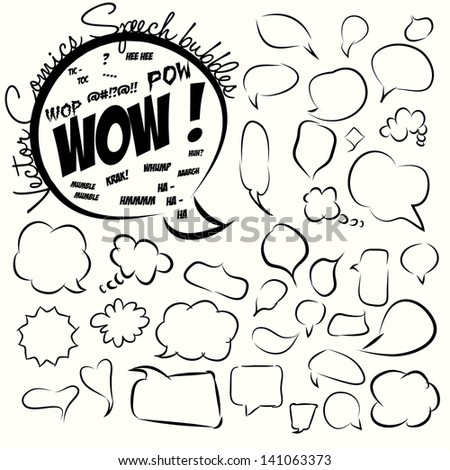 Collection of comic style speech bubbles. Vector. - stock vector