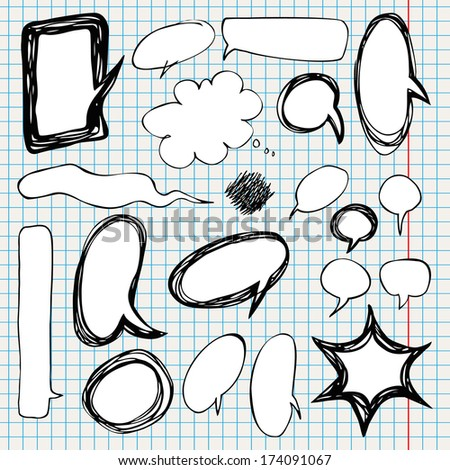Collection of comic style speech bubbles. Vector illustration. - stock vector
