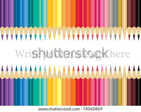 Collection of Crayon - stock vector