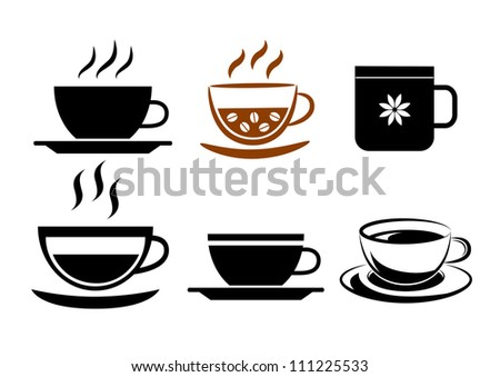 Collection of cups - stock vector