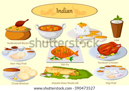 Cuisine stock vectors vector clip art shutterstock for Art of indian cuisine