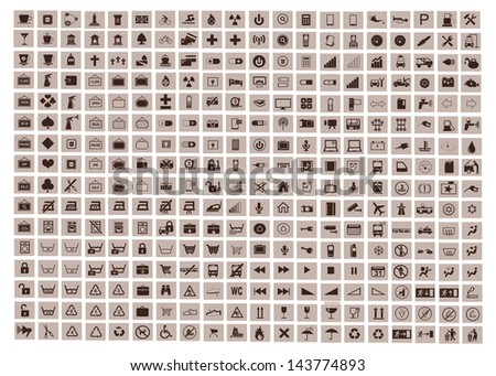 collection of different icons - stock vector