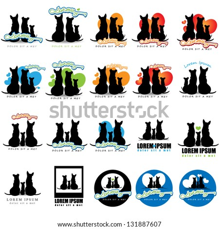 Collection Of Dog Icons. - Isolated On White Background. Vector illustration, Graphic Design Editable For Your Design. Logo Dogs - stock vector