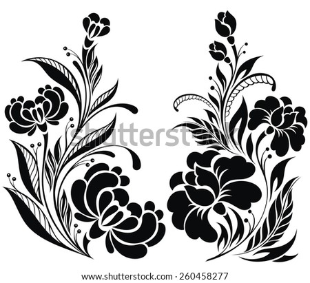 Collection of Flowers - stock vector