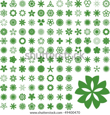 Collection of flowers for design. Vector great collection. - stock vector