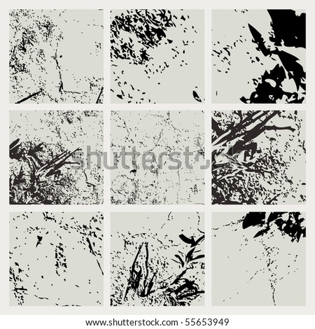 Collection of grunge textures. Vector. - stock vector