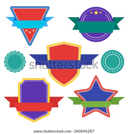 Collection of Label, Sticker, Tags. Abstract Vector Label, Sticker, Tags. Flat design of Label, Sticker, Tags. Blank Label, Sticker, Tags. Colorful label for design. Labels different shapes. - stock vector