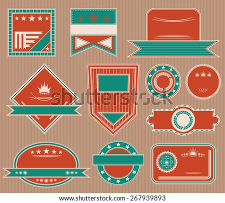 Collection of labels. Set of templates for labels. Original Design           - stock vector