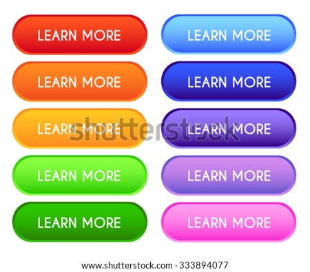 Collection of 'Learn More' Buttons - stock vector
