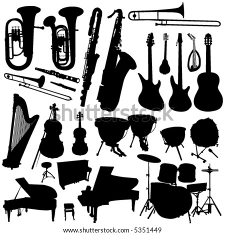 collection of music vector 2 - stock vector