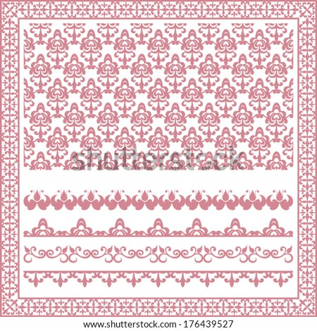 Collection of ornaments for design - stock vector