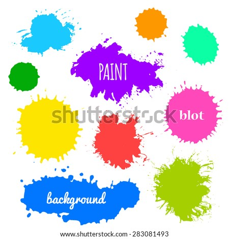 Collection of paint splash. Vector set of brush strokes. Isolated - stock vector