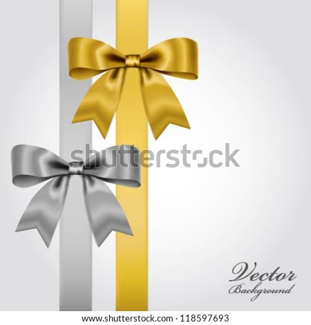 Collection of realistic bows - stock vector