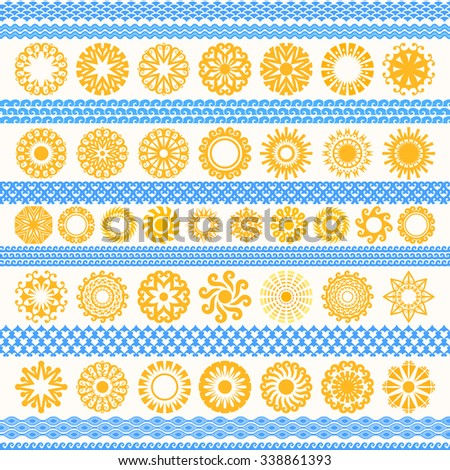 Collection of round shapes - stock vector