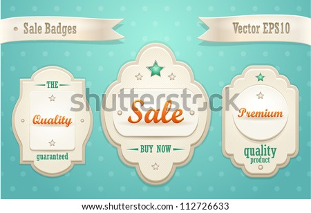 Collection of sale badges. Vector - stock vector
