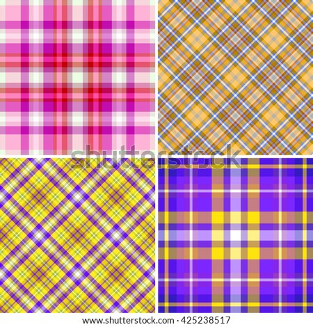 Collection of seamless color pattern. - stock vector