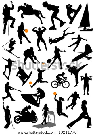collection of sports vector 5 - stock vector