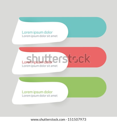 Collection of templates flat ui modern style banners - stock vector