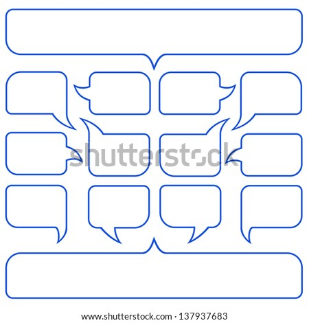 Collection of the speech bubbles - stock vector