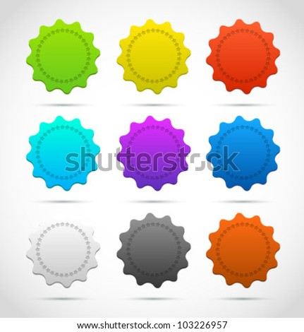 Collection of three vector Medals. Vector set. - stock vector