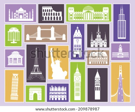Collection of Travel icons. Vector - stock vector