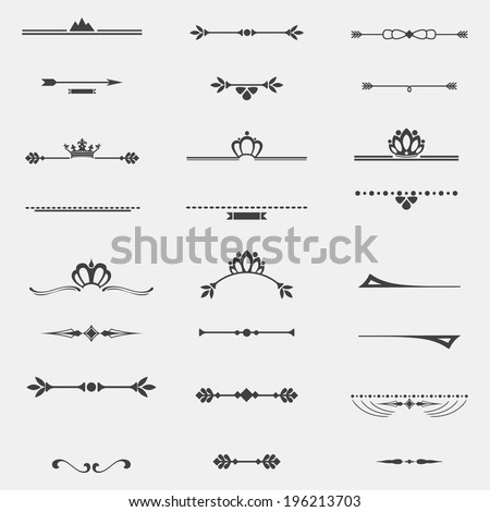 Collection of twelve vintage frames for design - stock vector