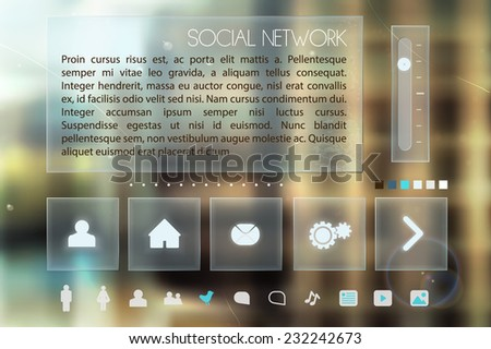 Collection of various icons for social networks - stock vector