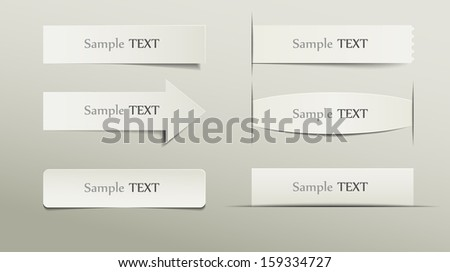 Collection of various note papers, ready for your message, eps10 - stock vector