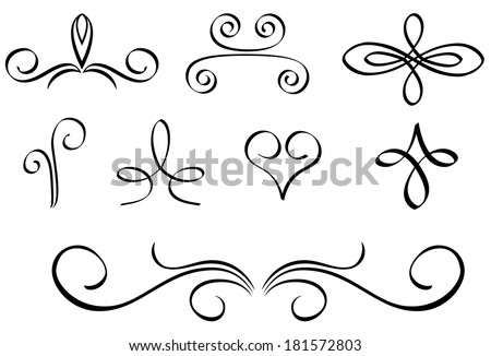 Collection of vector design elements - stock vector