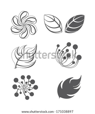 Collection of vector design elements. Lots of useful elements to embellish your layout  - stock vector