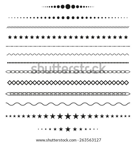 Collection of vector dividers - stock vector