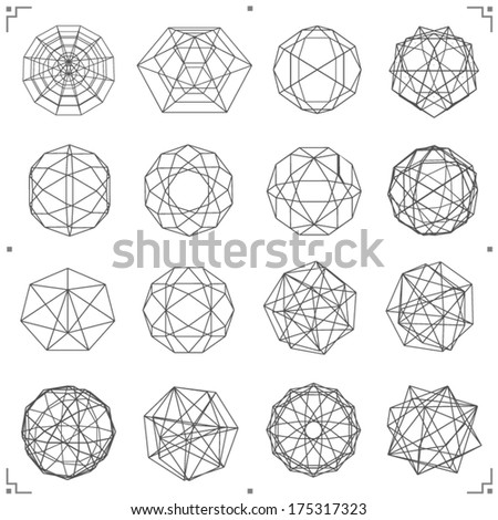 collection of vector shapes - stock vector