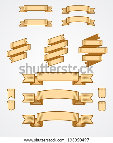 Collection of Vintage Banner - stock vector