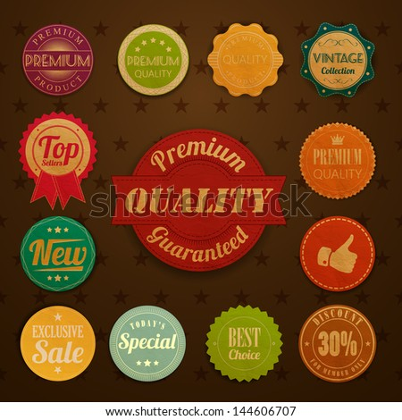 Collection of vintage retro grunge labels - stock vector