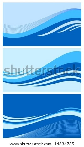 collection of wave vector - stock vector
