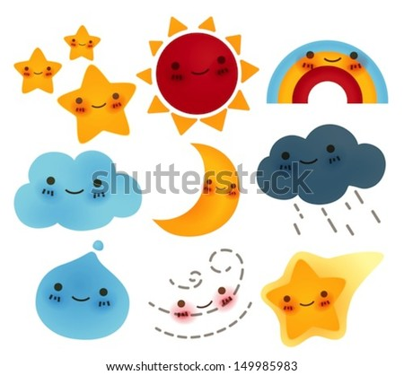 Collection of  weather Icon  - Vector File EPS10 - stock vector