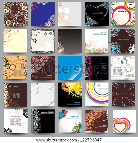 Collection posters ( cd cover format ) - stock vector