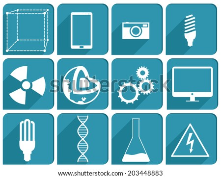 Collection Science icons - stock vector