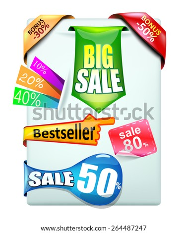 Collection stickers - stock vector