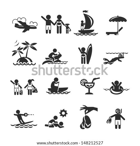 Collections holiday icons - stock vector