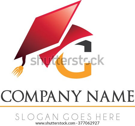 College flat modern professional logo vector - stock vector