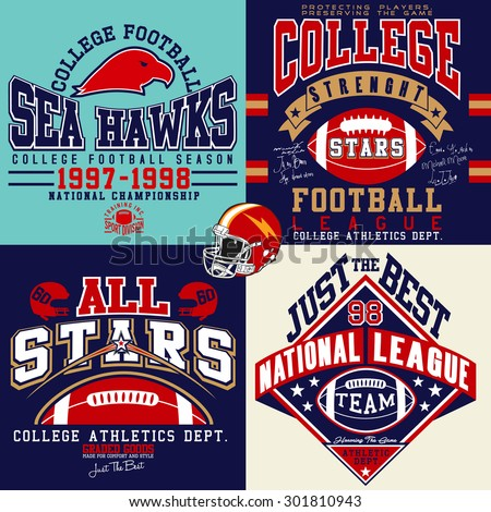 college graphics for t-shirt - stock vector