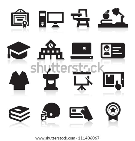 College icon - stock vector
