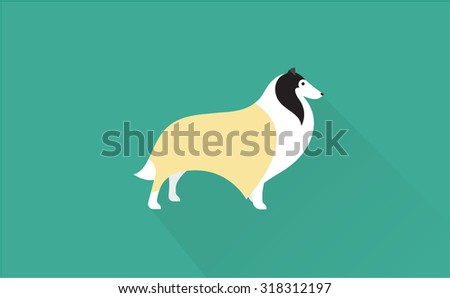 collie icon - stock vector